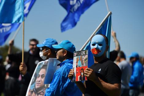parliament-house-uyghur-protest