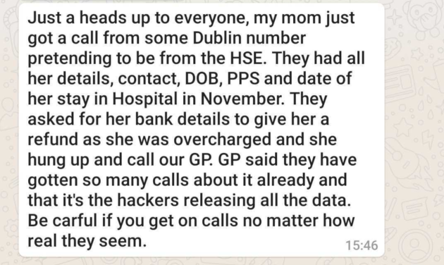 HSE message