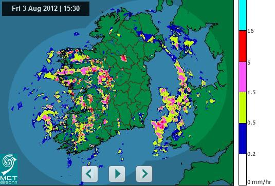 Here's the latest rainfall radar pic for Ireland · TheJournal.ie