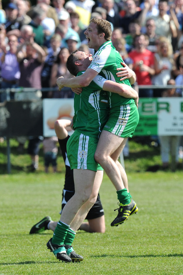 lorcan-mulvey-celebrates-with-mark-gottchie-at-the-end-of-the-game