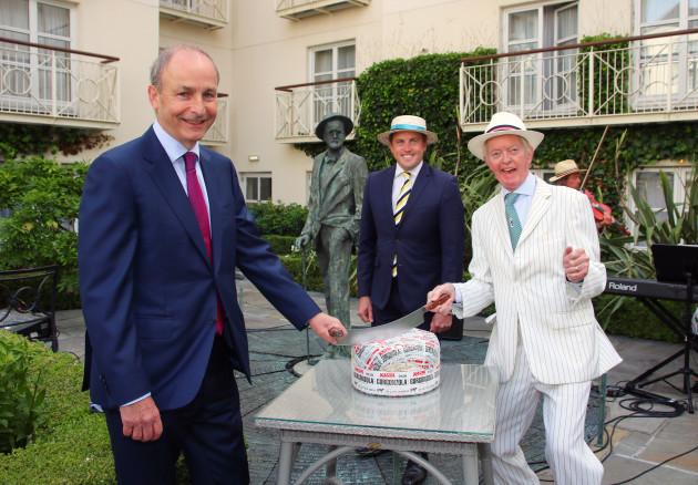 An Taoiseach Micheal Martin TD, Cormac Devlin TD & Peter Caviston Bloomsday2021