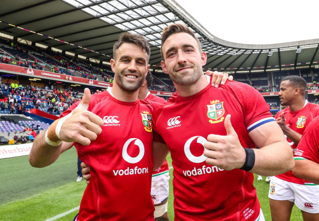 conor-murray-celebrates-after-the-game-with-jack-conan