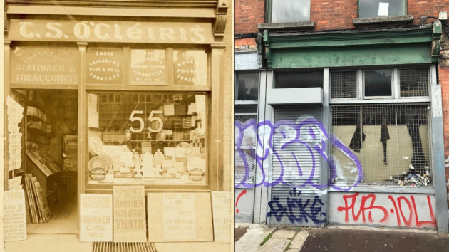 55 Amiens Street then and now