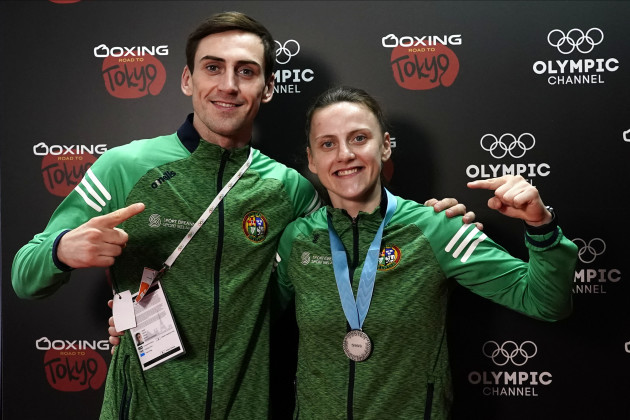 michaela-walsh-celebrates-with-her-silver-medal-with-aidan-walsh