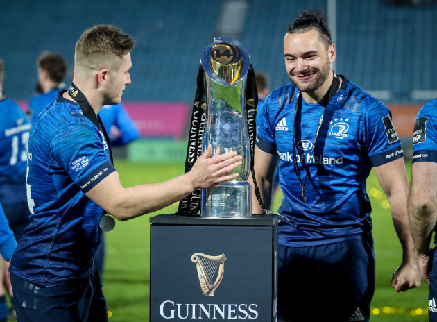 jordan-larmour-and-james-lowe-celebrate-with-the-guinness-pro14-after-the-game