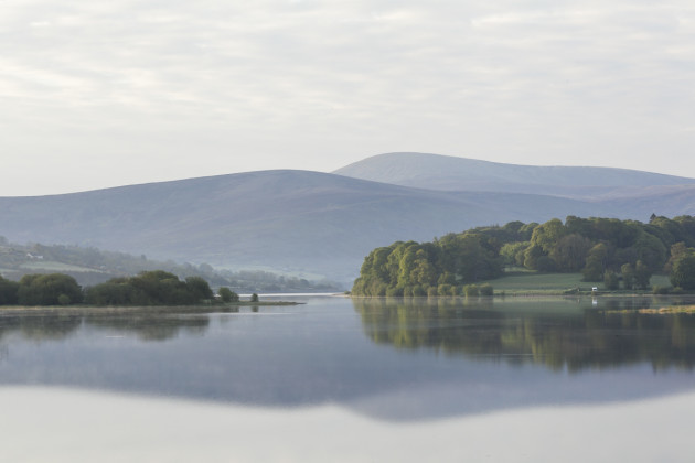 Blessington Lake, part of the Poulaphouca Reservoir SPA, a wetland habitat of importance for wildlife.