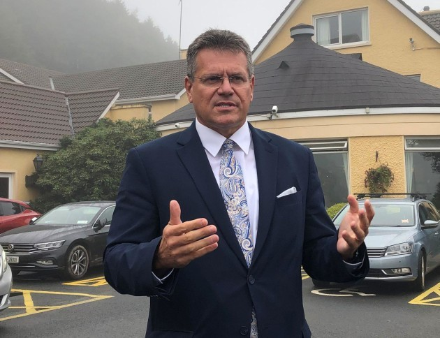 european-commission-vice-president-maros-sefcovic-speaking-after-a-meeting-with-business-leaders-in-newry-he-is-currently-on-a-two-day-trip-to-northern-ireland-to-find-out-about-issues-with-the-north