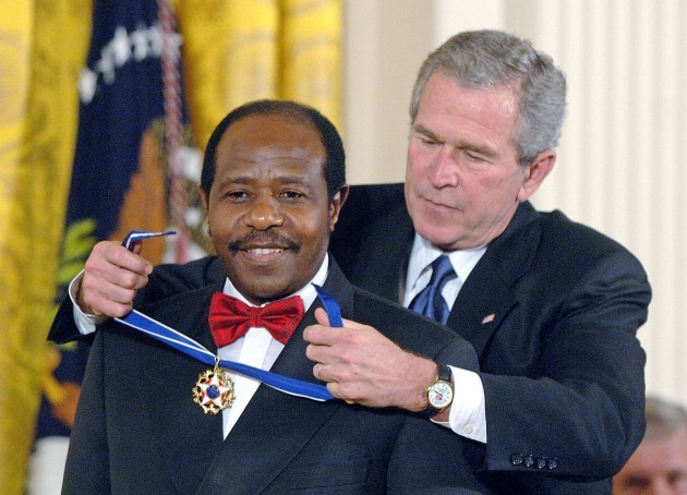 u-s-president-george-w-bush-honors-celebrities-and-personalities-including-paul-rusesabagina-who-sheltered-people-at-a-hotel-he-managed-during-the-1994-rwandan-genocide-with-the-presidential-medal-o