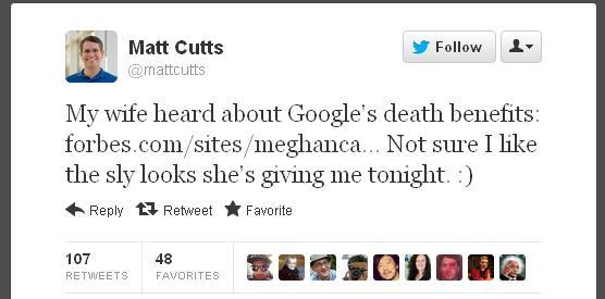 Google adds death benefits to list of 'perks'    what else