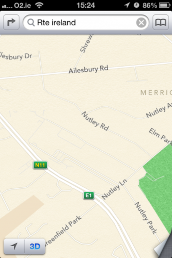 Oh dear: Apple Maps has made some pretty big mistakes in its Ireland
