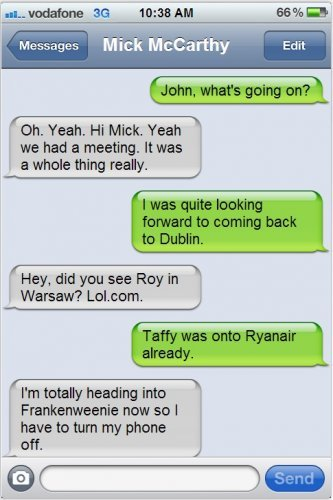 Trapattoni decision: A look at John Delaney's text messages