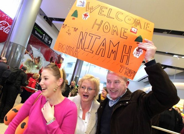 Coming Home For Christmas.In Pictures Coming Home For Christmas Thejournal Ie