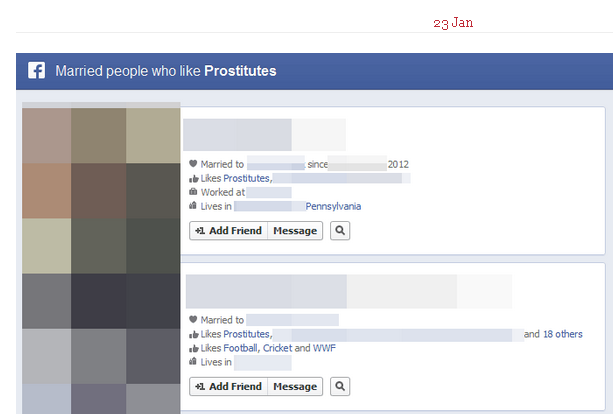 Unsettling Tumblr of the Day: Actual Facebook Graph Searches