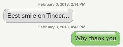The awkward way people flirt on dating app Tinder