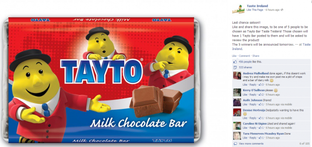 There Are Just 24 Tayto Chocolate Bars In The Whole Of