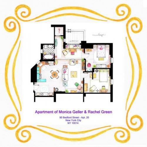 Check Out The Floor Plans Of Your Favourite Tv Homes The Daily Edge